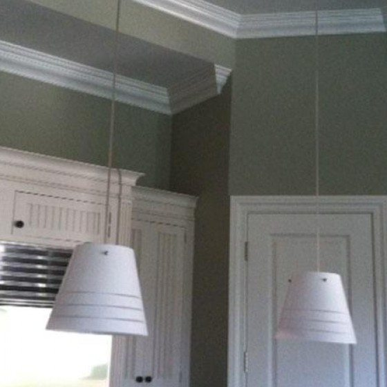 Residential Interior Painting | Painting Designs | Circles | Blue Paint | Arizona Painting Company Residential Painting