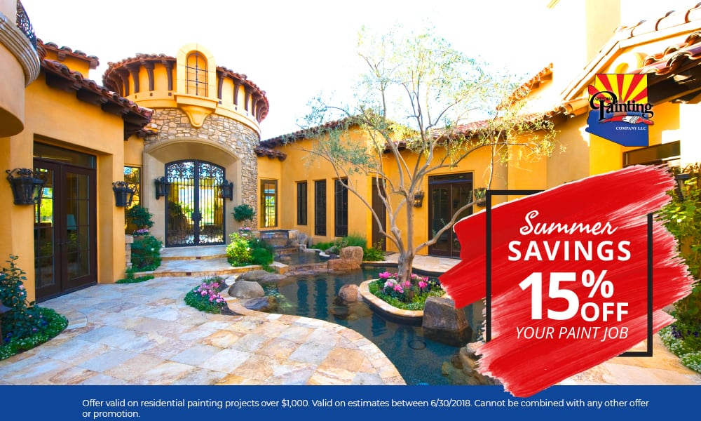 Summer Savings | Save 15% | Arizona Painting Company