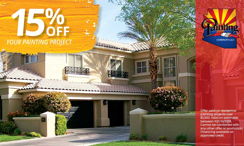 Save 15% of Your Painting Job | Specials | Arizona Painting Company