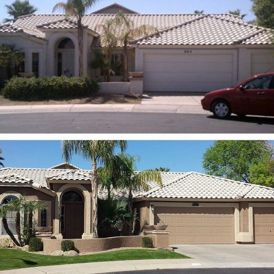 Before and After Exterior Residential Painting   Arizona Painting Company