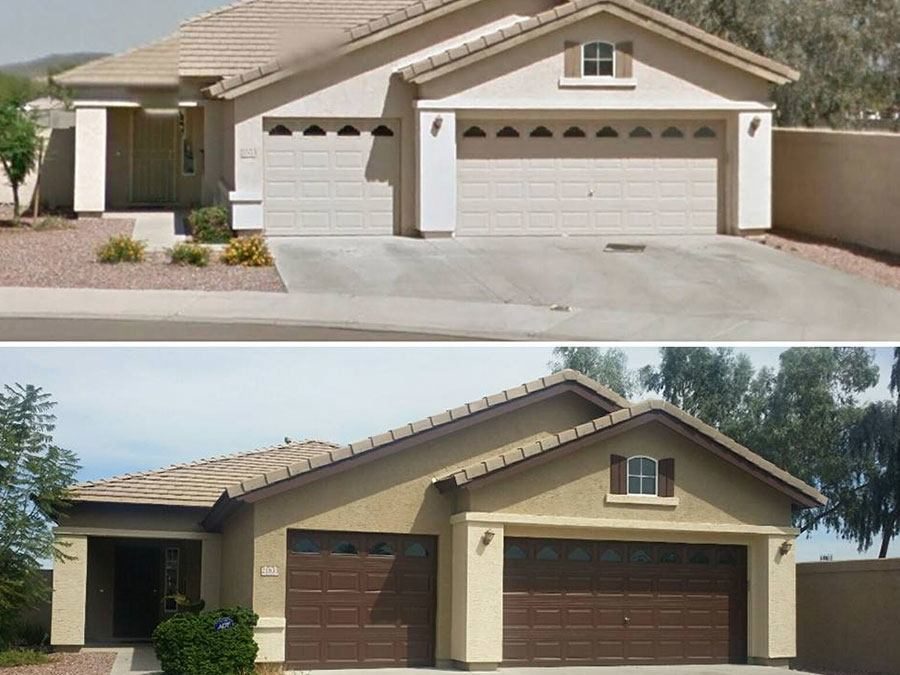 Before after painting jobs galleries arizona painting company - Exterior paint warranty property ...