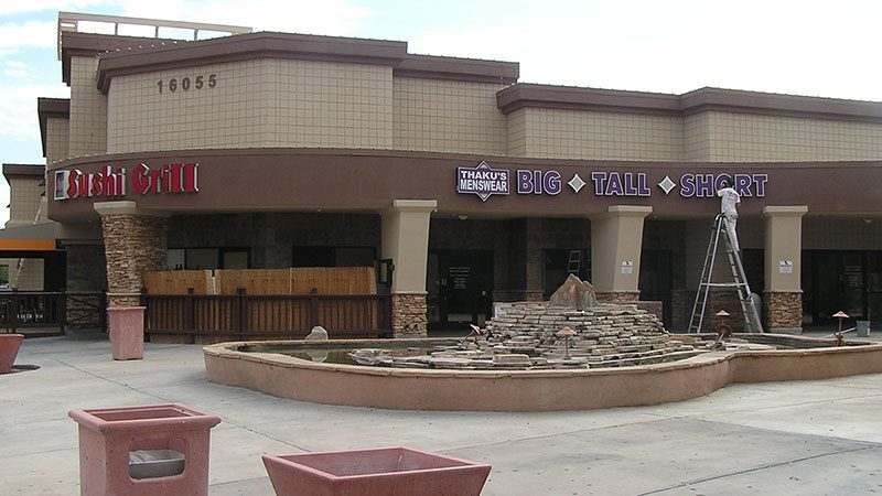 Scottsdale Strip Mall Painting Project Scottsdale Arizona Commercial Exterior Painting